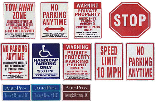 Private Property Sign | Autopros Towing & Recovery
